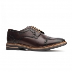 Base London BUTLER Mens Leather Shoes Brown