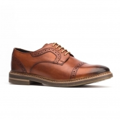 Base London BUTLER Mens Leather Shoes Tan
