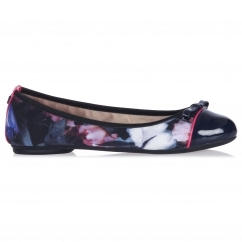 Butterfly Twist CARA Ladies Ballerina Flats Floral Rose/Navy