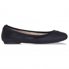 Butterfly Twist HANNAH Ladies Ballerina Pumps Flats Black Snake