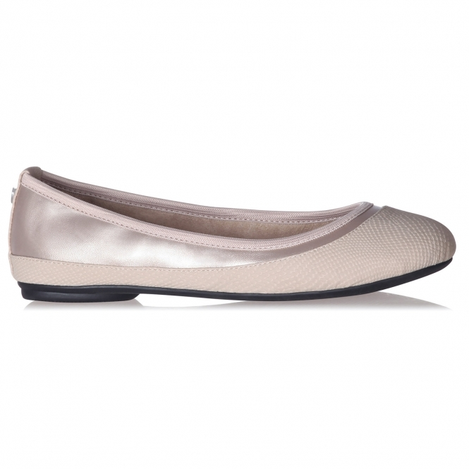 Butterfly Twists HANNAH Ladies Ballerina Flats Nude Snake