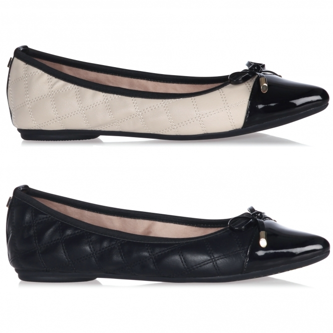 Butterfly Twists HOLLY Ladies Ballerina Pointed Flats Cream Black ... 15c321ccd