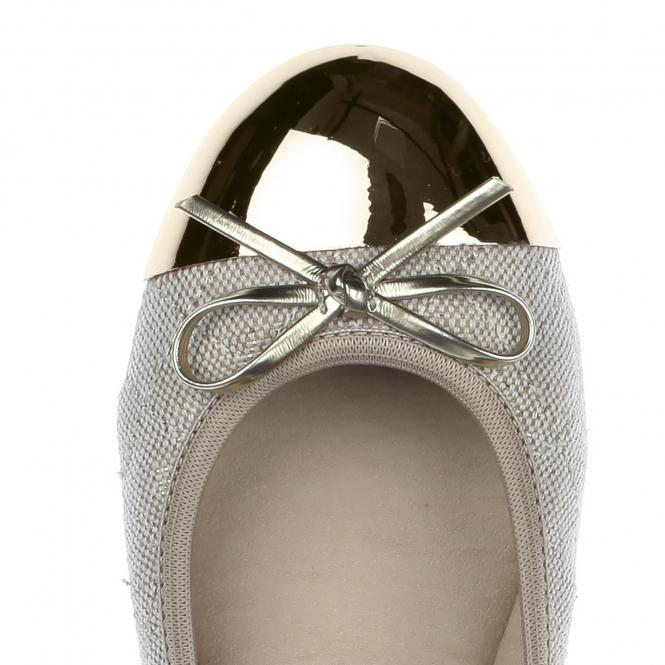 Butterfly Twists OLIVIA Ladies Linen Ballerina Flats Cream Gold ... 285c4c6e1
