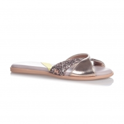 ORA Ladies Sandals Rose Gold Glitter