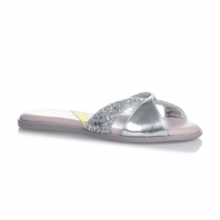 ORA Ladies Sandals Silver Glitter