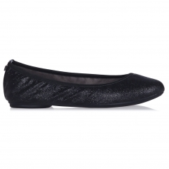 Butterfly Twist SAMANTHA Ladies Ballerina Flats Black