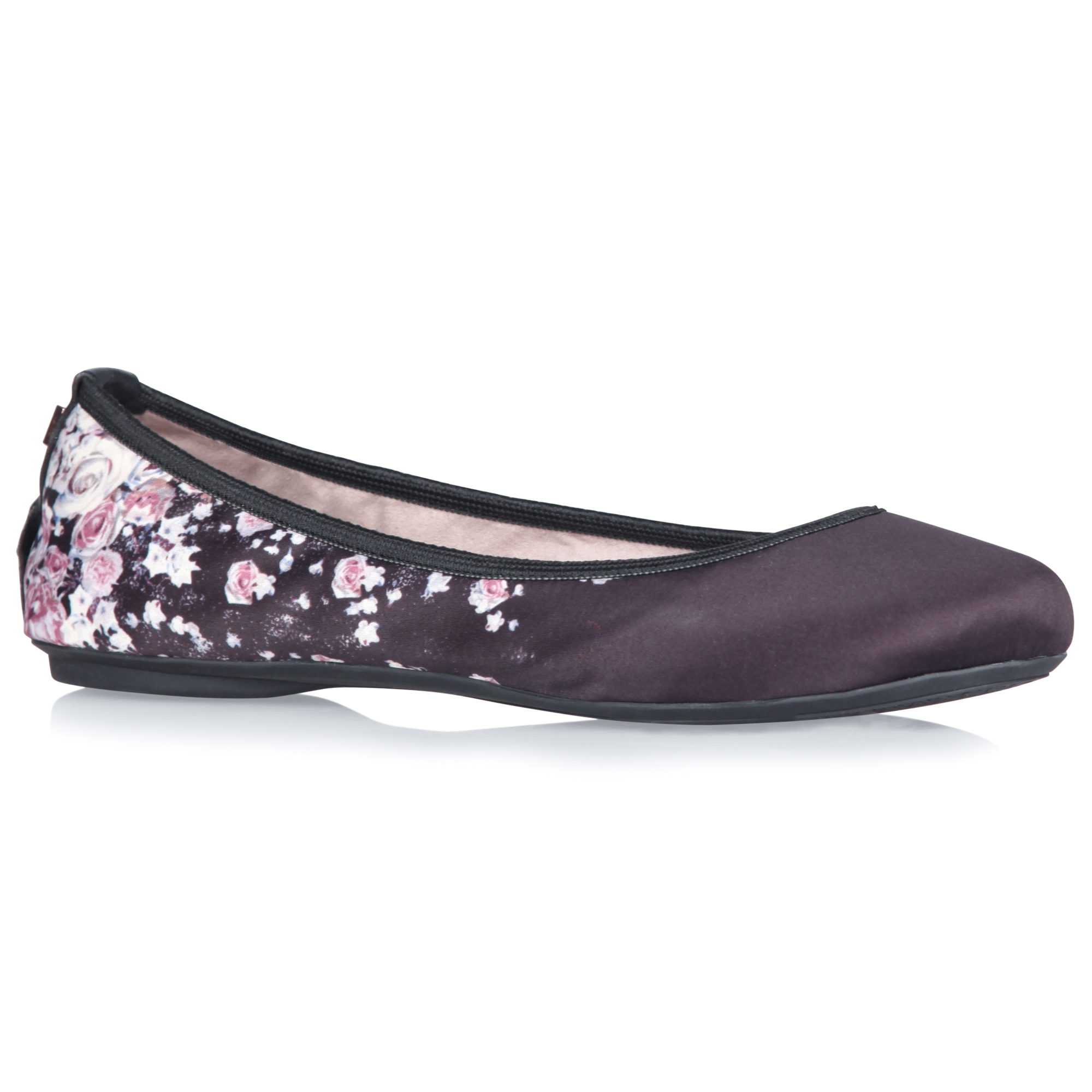 Butterfly Twists SOPHIA Ladies Womens Satin Ballerina Shoes Blush Pink Floral