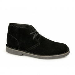 CORY Mens Original Suede Leather Desert Boots Black