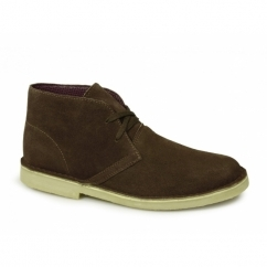 CORY Mens Original Suede Leather Desert Boots Dark Brown