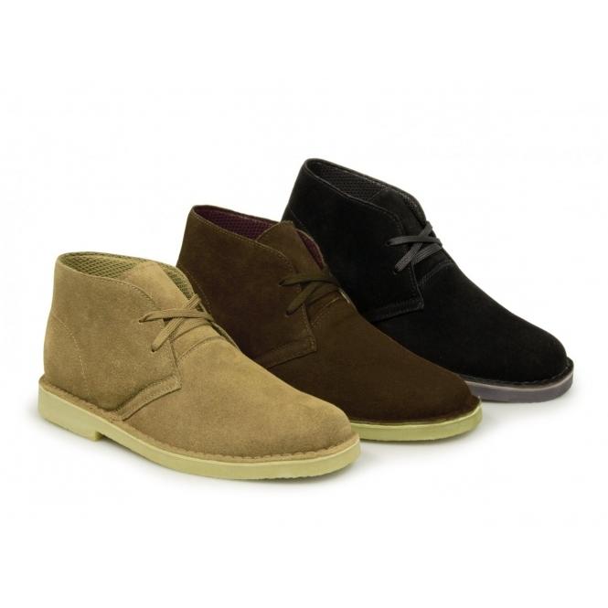 BXT CORY Mens Original Suede Leather Desert Boots Dark Brown b374a0a55