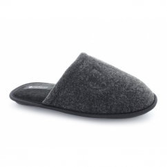 WARREN Mens Mule Slippers Black