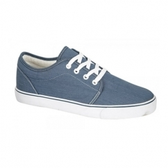 CADEN Unisex Lace Up Deck Shoes Light Denim