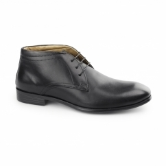CALCOT Mens Leather Chukka Boots Black