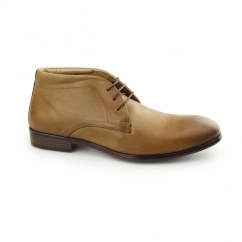 CALCOT Mens Leather Chukka Boots Tan