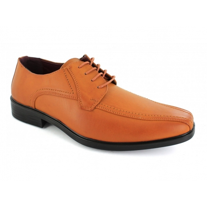 Shoe Avenue CALLUM Mens Lace-Up Shoes Tan