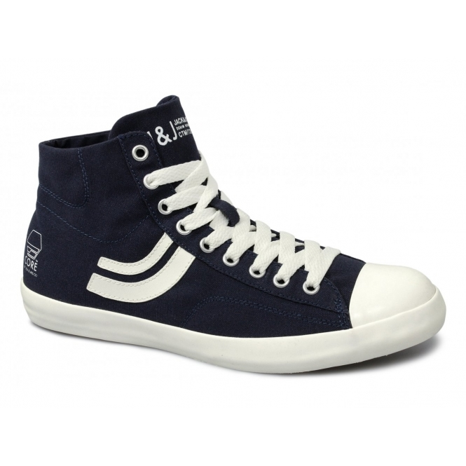Jack & Jones CAMDEN JI CORE Mens Canvas Hi-Tops Dress Blue