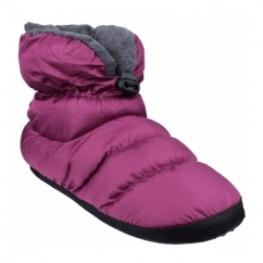 CAMPING Ladies Faux Fur Camping Boot Slippers Purple