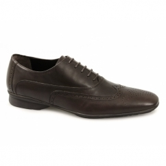 CAPULET Mens Leather Brogue Shoes Brown
