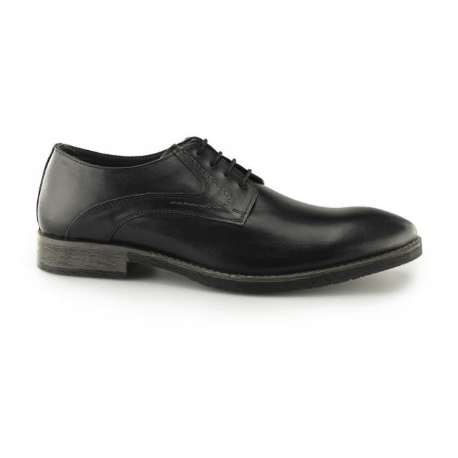 Hush Puppies Black leather 'Carlos Luganda' derby shoes