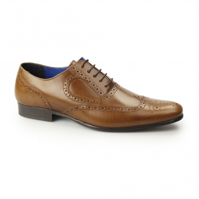 Red Tape CARLOW Mens Leather Chisel Toe Brogues Tan