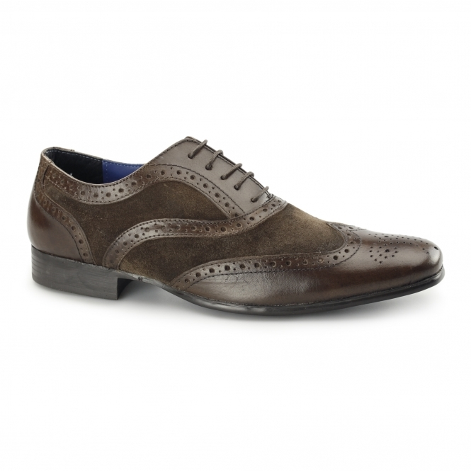 Red Tape CARN Mens Leather/Suede Smart Brogues Brown