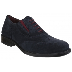 GEOX CARNABY Mens Leather Smart Oxford Shoes Navy