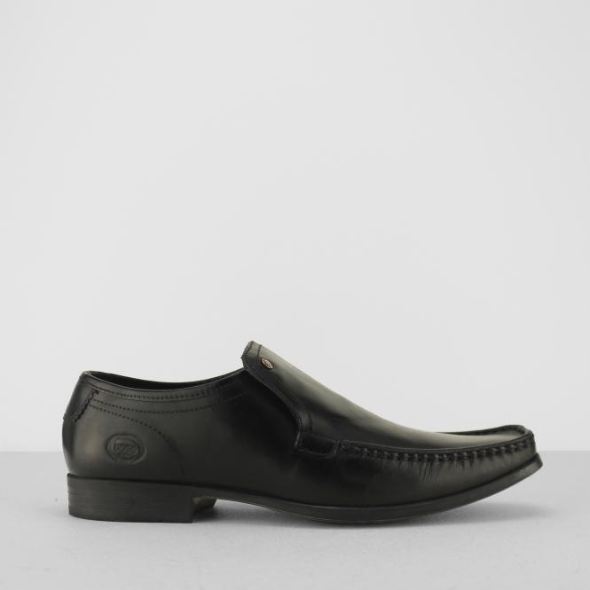 4fd3932b4e37 Base London CARNOUSTIE Mens Leather Moccasin Toe Loafers Black