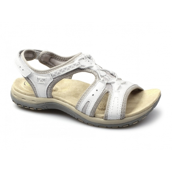 Earth Spirit CAROLINA 2 Ladies Suede Velcro Sports Sandals White