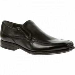 CARTER MADDOW Mens Leather Wide Fit Loafers Black