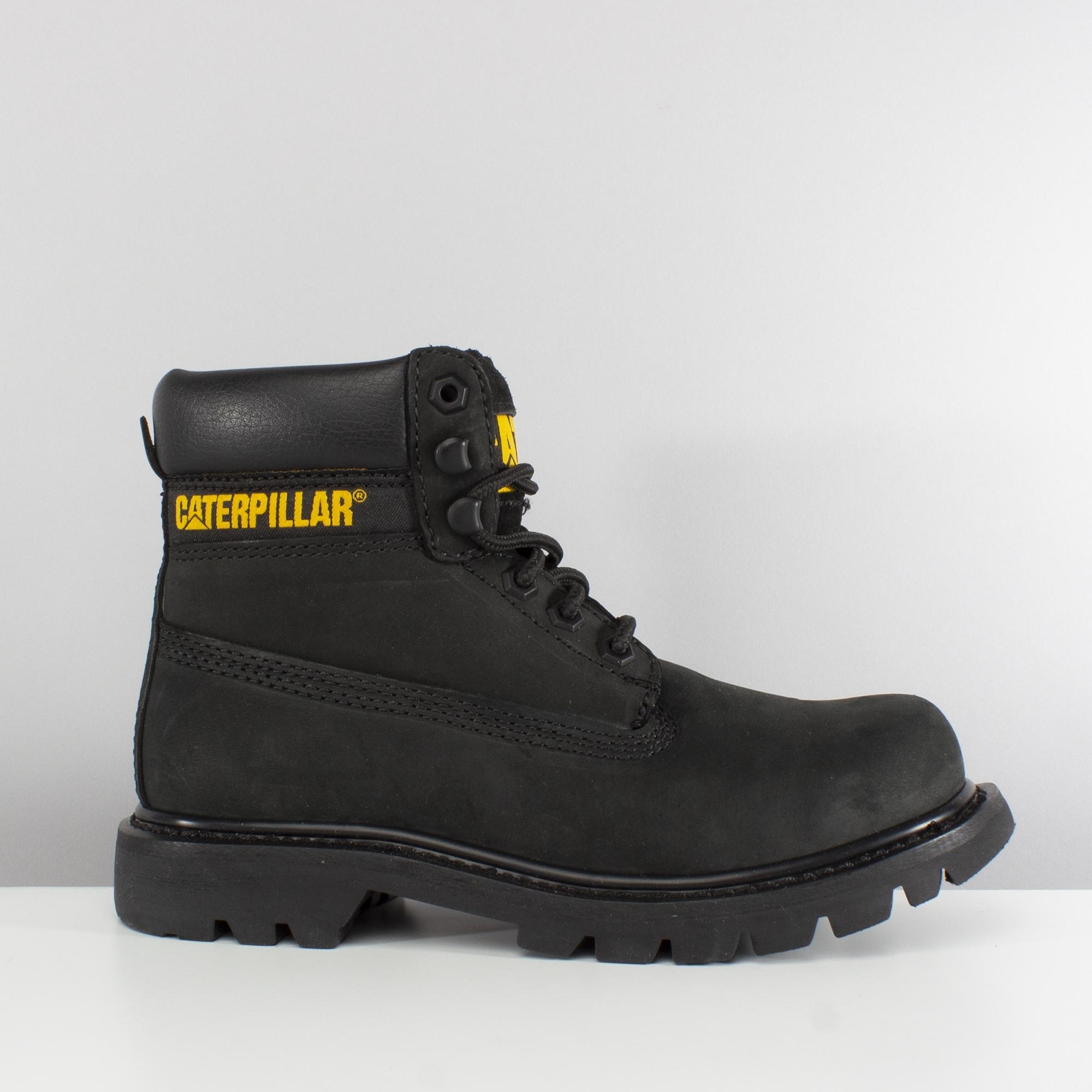 CAT Lifestyle COLORADO Ladies Real Leather Ankle Boots Black  6e2d9e8181