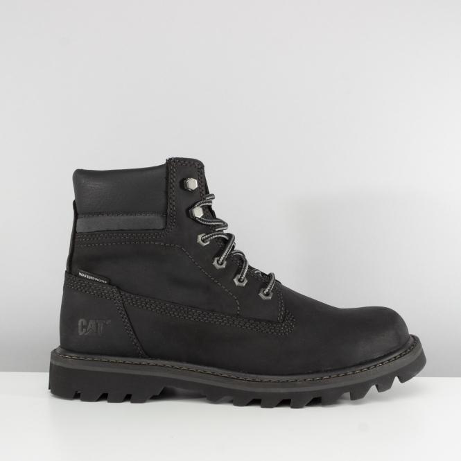 Deplete Mens Nubuck Waterproof Boots Black