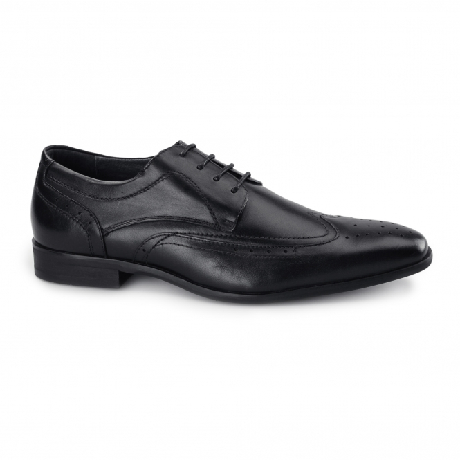 Azor CATANIA Mens Leather Derby Brogues Black