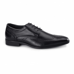CATANIA Mens Leather Derby Brogues Black