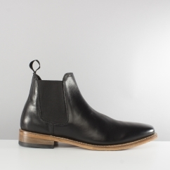BELLAMY Mens Goodyear Welted Chelsea Boots Black/Brown