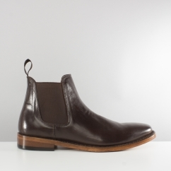 BELLAMY Mens Goodyear Welted Chelsea Boots Brown