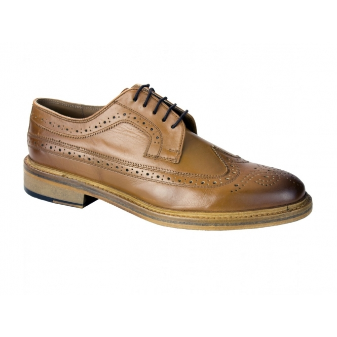 Catesby Shoemakers BENN Mens Leather Goodyear Welted Brogues Tan