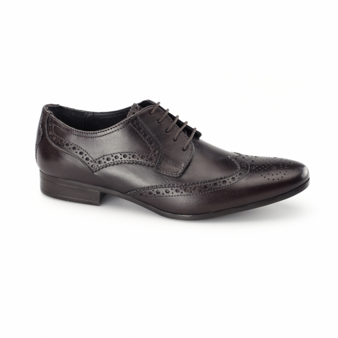 Catesby Shoemakers RICHARD Mens Leather Derby Brogues Burgundy