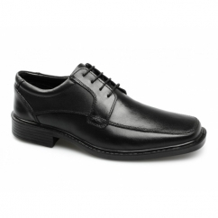 RYLAND Mens Leather Wide Fit Lace-Up Shoes Black