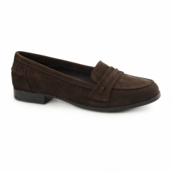 CATHCART KNIGHTSBRIDGE Ladies Suede Loafers Chocolate