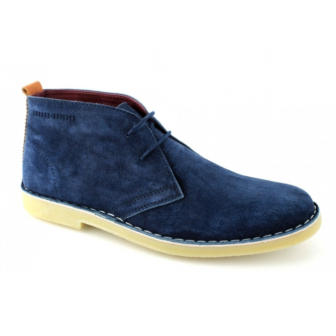 London Brogues CAXTON Mens Suede Desert Boots Navy