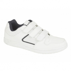 CHARING CROSS Mens Triple Velcro Trainers White
