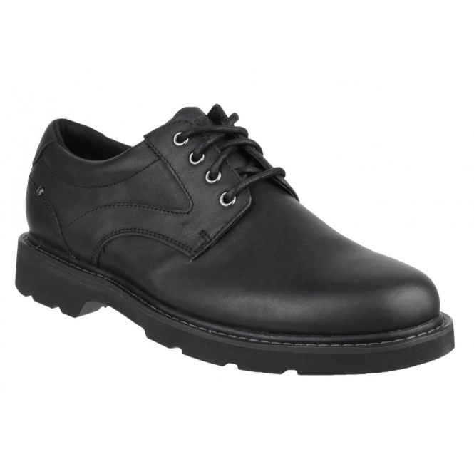 Rockport CHARLESVIEW Mens Waterproof Leather Derby Shoes Black
