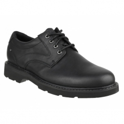 CHARLESVIEW Mens Waterproof Leather Derby Shoes Black