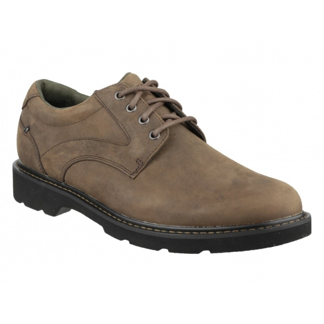 608b1c184c6da4 ... Rockport CHARLESVIEW Mens Waterproof Leather Derby Shoes Brown Shuperb