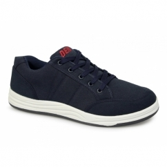 CHARLIE Mens Canvas 5 Eyelet Leisure Shoes Navy