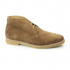 Base London CHARLTON Mens Suede Desert Boots Gold