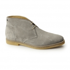 Base London CHARLTON Mens Suede Desert Boots Grey