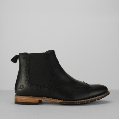Chatham DUDLEY II Mens Leather Brogue Chelsea Boots Black