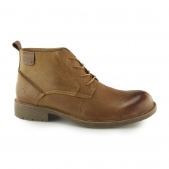 MILTON Mens Leather Chukka Boots Tan