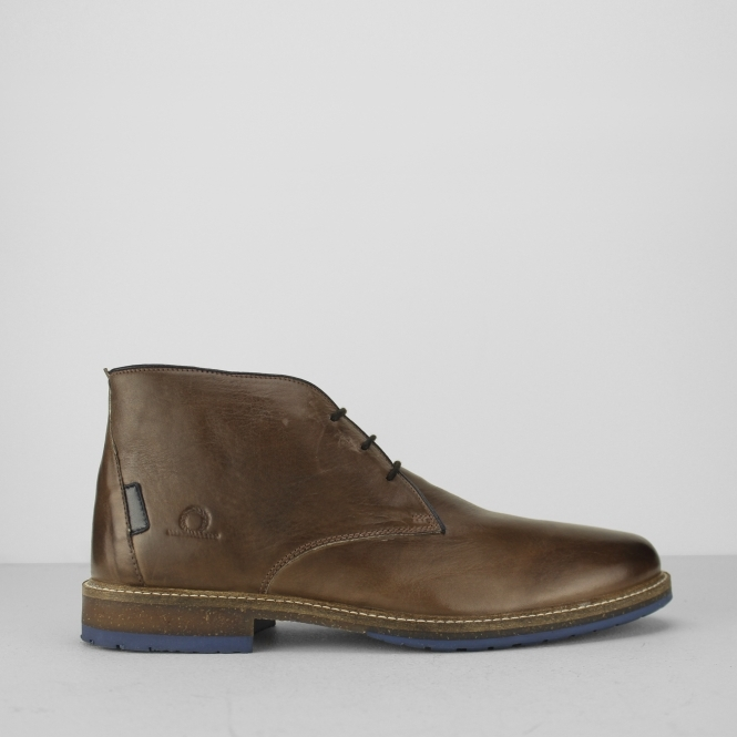 PERRY Mens Leather Chukka Boots Brown